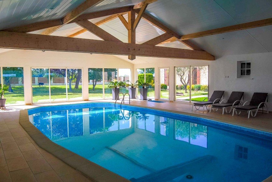 A Beautifully Restored Farmhouse With Indoor Swimming Pool Barn And More Than 2 Acres Of